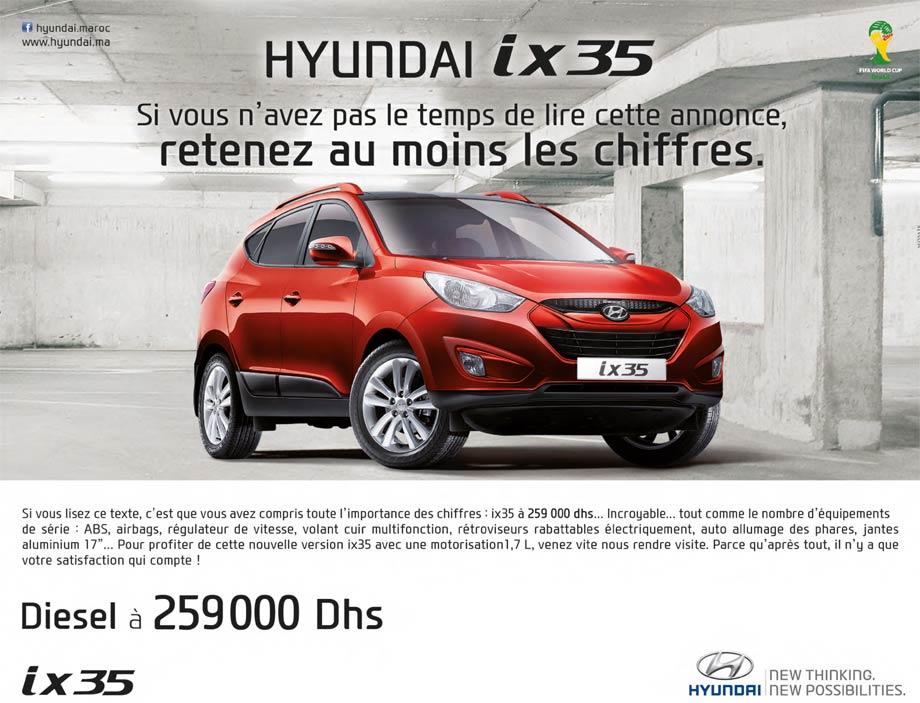 Hyundai Ix35 neuve au maroc