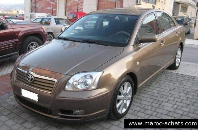 Toyota Avensis d'occasion maroc